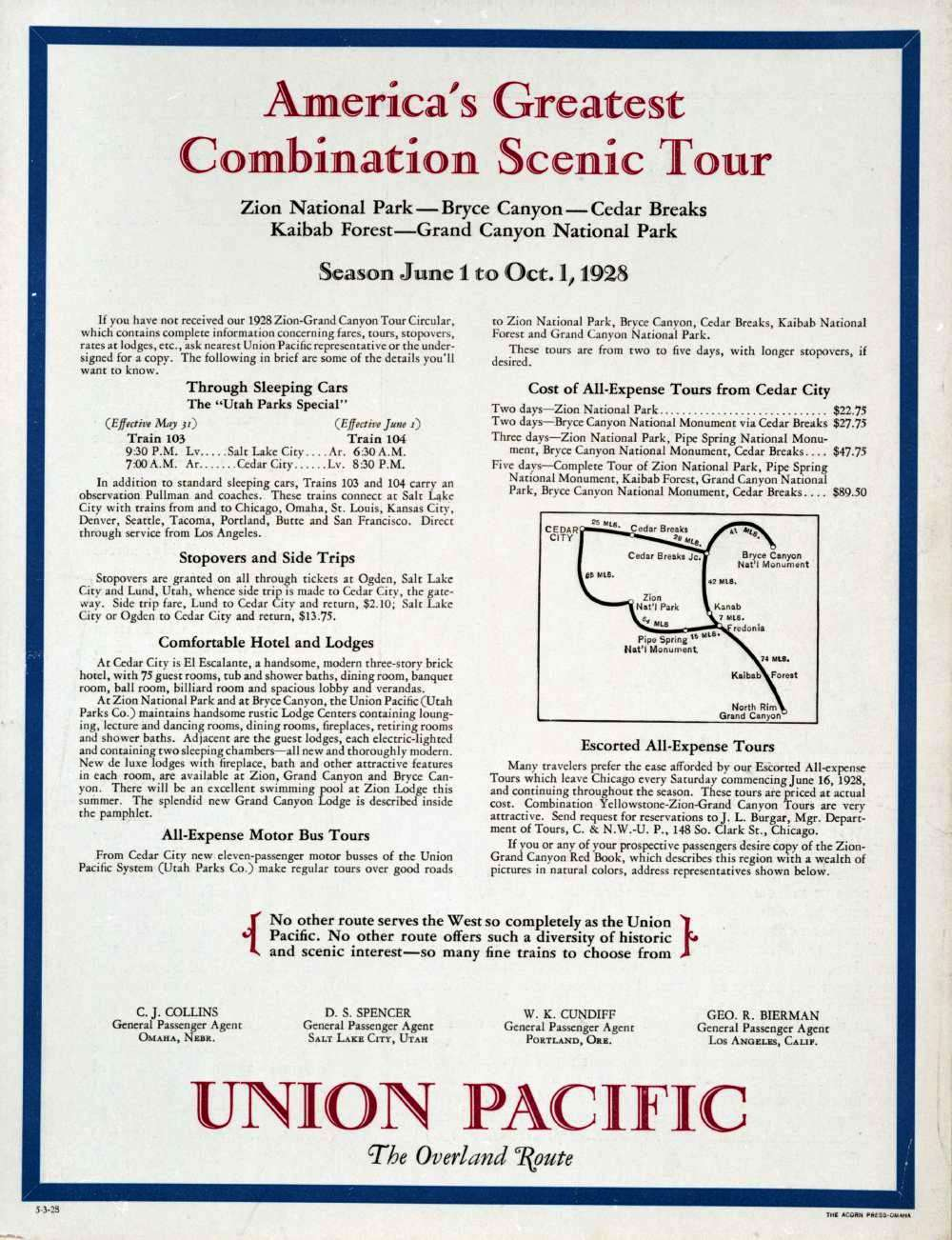 Union Pacific Overland Route Advertisement
